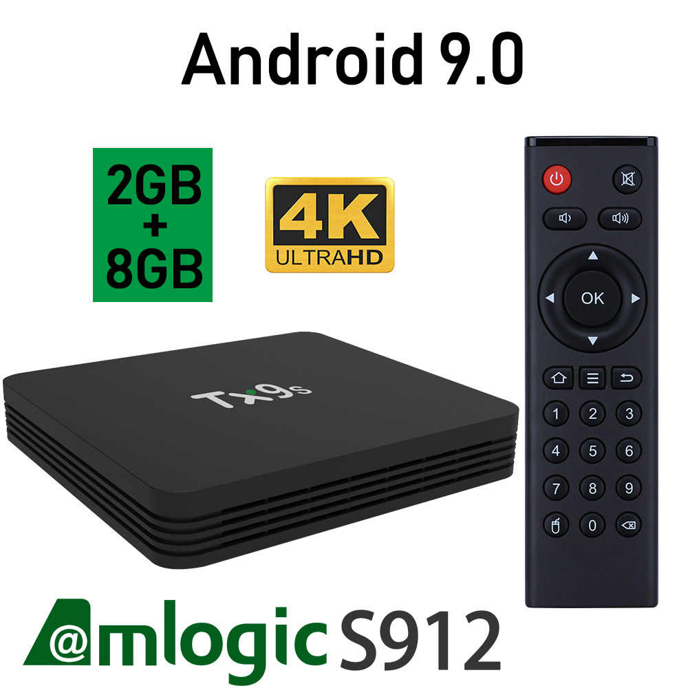 9.0 T X 9 S Amlogic S912 4K IPTV Google Voice Assistant Media Player TV Box Netflix YouTube 2GB 8GB Set Top TV Box
