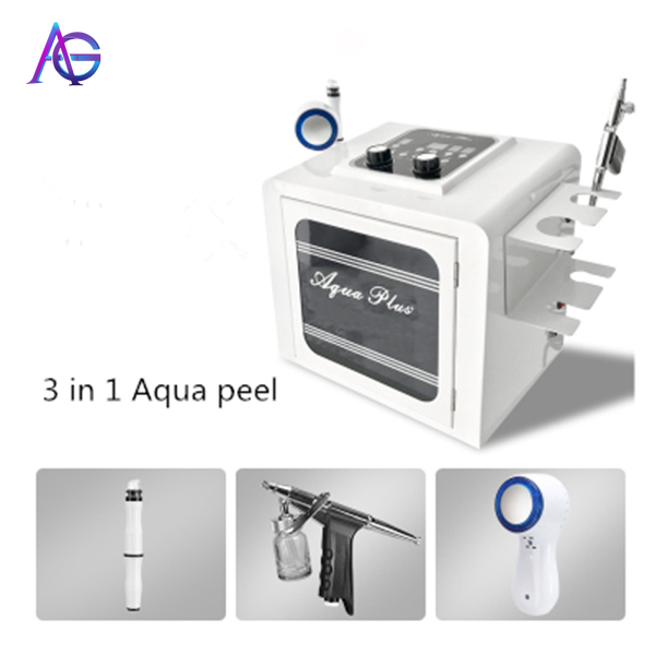 Adg 3in One The Hottest Facial Deep Cleaning Shrink Pores Blackhead Remover Aqua Peel Beauty Salon Equipment