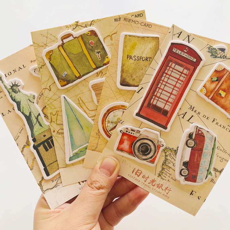 1X Vintage Travel London New York Memo Pad Plan Message Sticky Notes