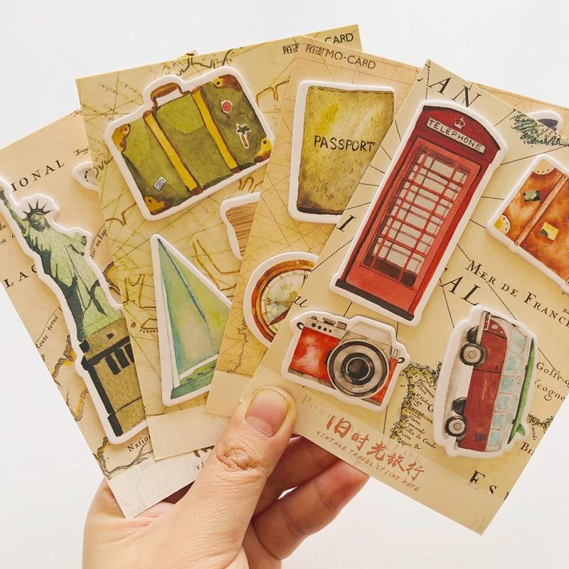 1X Vintage Travel London New York Memo Pad Plan Message Sticky Notes
