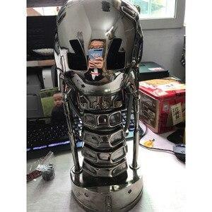 Image 2 - ¡Genial! Cráneo de T 800 terminator, escala 1:1, 39CM, con chip, edición de resina electrochapada estándar, artículos de decoración