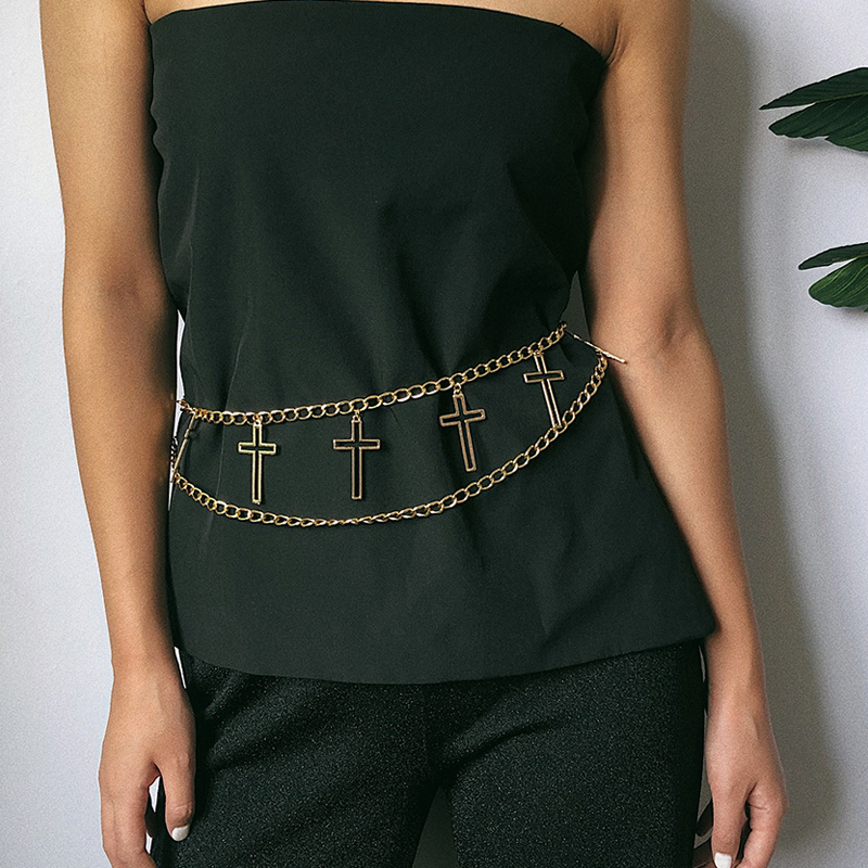 Fashion Chain Belt Gold Silver Letter Waist Metal Belts For Women Personality Tassel Waistband Ladies Ceinture Femme Luxury