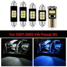 11 Teile/satz LED Karte Dome Lampen Eitelkeit Spiegel Lampe Stamm Licht innen Kit Für VW Passat B5 1997 1998 1999 2000 2001 2002 2005