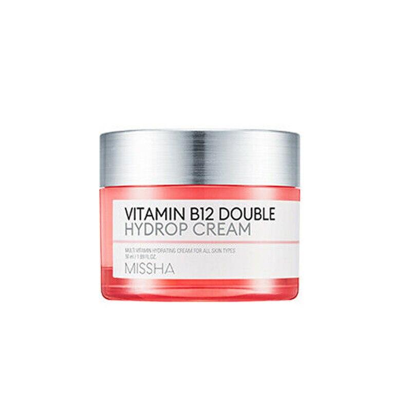 MISSHA Vitamin B12 Double Hydrop Cream 50ml Moisturizing Vitamin Cream Repair Damaged Skin Whitening Face Cream Korea Cosmetics
