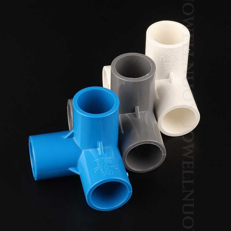 10 Pcs Pvc Pijp Connectors Tuin Irrigatie Buis Adapter 20 25 32 Mm Pvc Drie-Dimensionale Tees Indoor Water supply Buisleidingen