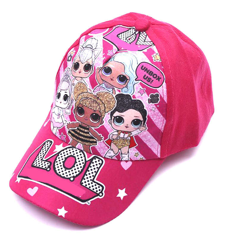LOL Doll Cartoon 3-8 Years Old for Kids Birthday Gifts Child Duck Tongue Baseball Cap Visor Velcro Grid Breathable