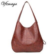 Vfemage, винтажные сумки с верхней ручкой, женские сумки, дизайнерские женские сумки через плечо, кожаные женские повседневные сумки, женские сумки