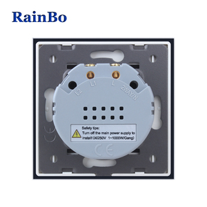 Image 5 - BainBo Crystal Glass Panel smart Switch EU Wall Switch AC250V LED  Touch Switch Screen Wall Light Switch 1gang 1way A1911CW/B