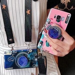 Чехол для телефона с 3d-камерой для Xiaomi Mi 9Pro 9T SE A3 lite Redmi 8 8A K20 S2 7 5 plus 5A 6A Note 10 8 7 6 pro, со шнурком и кронштейном