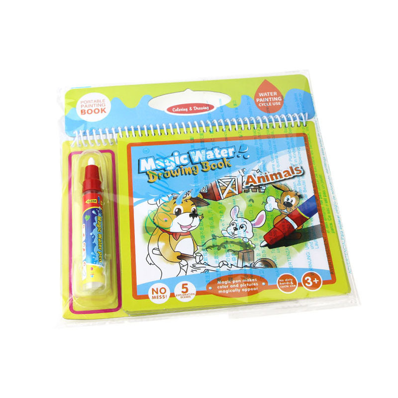 Farm Animal Magic Color Painted Doing Homework Water Drawing Book Water Explicit Water Graffiti Early Childhood Educational Toy