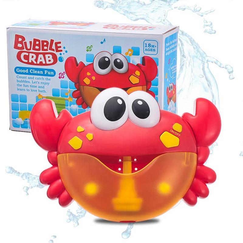 Crab Bubble Machine Baby Bath Toys Kids Pool Swimming Bathtub Soap Machine Automatic Bubble Funny Whales Frogs Bath Music Bubble