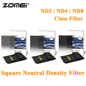 ZOMEI Original Graduated ND2/ND4/ND8 Camera Filter Import Optical Glass Square Gradual Neutral Density Filter for Cokin Z DSLR