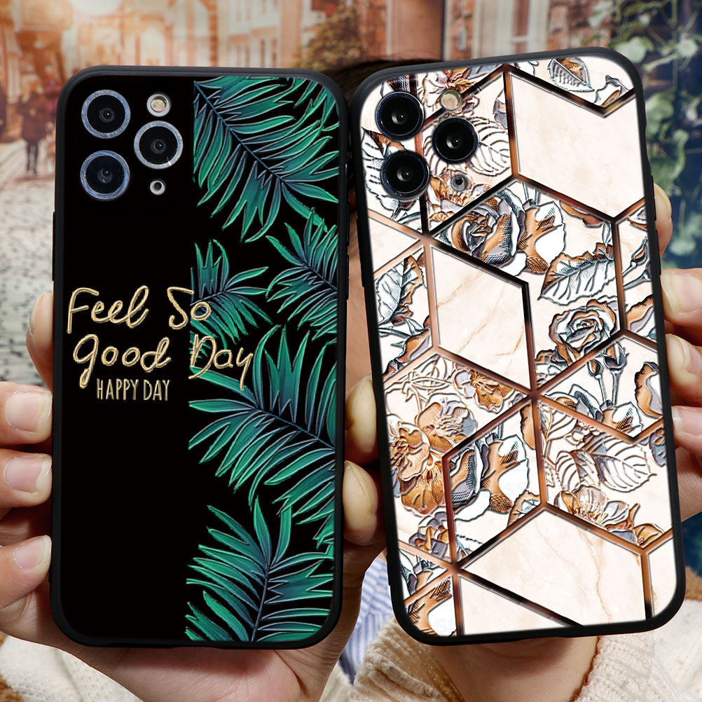 <font><b>3D</b></font> Emboss Relief Phone Cases For Apple <font><b>iPhone</b></font> 11 Pro Max X XR XS Max 8 7 6 6S Plus 5 <font><b>5S</b></font> SE 2020 Soft TPU Cover Coque <font><b>Fundas</b></font> Case image