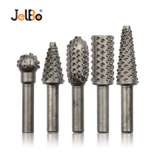 JelBo 5PCS 3/4/5/6/8MM Branch Drill Bits Carbide Burrs Woodworking Hole Cutter Hexagonal Handle Luo Carpenters Tool