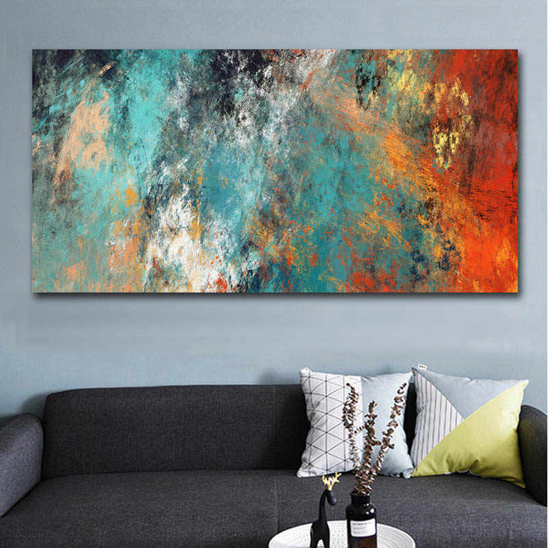 Canvas Prints Abstract Clouds Picture Wall Art for Living Room Home Decor 1 Piece Colorful Posters Print Painting
