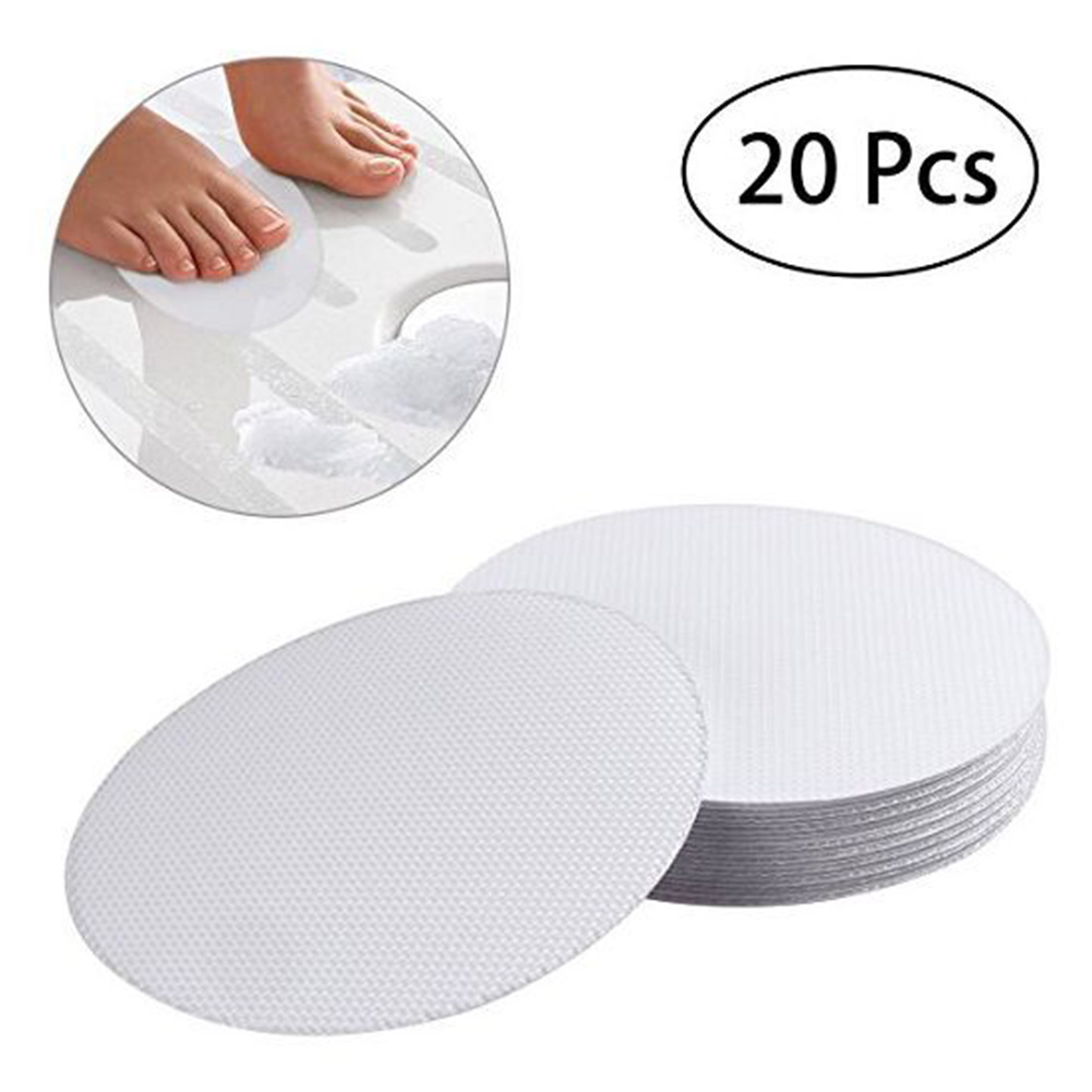 Durable Self-adhesive Non-abrasive Transparent Anti Slip Round Bathtub Stickers Bathroom Accessories Practical PEVA Safety