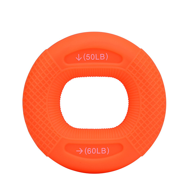 Silicone Adjustable Hand Grip 20-80LB Gripping Ring Finger Forearm Trainer Carpal Expander Muscle Workout Exercise Gym Fitness 4