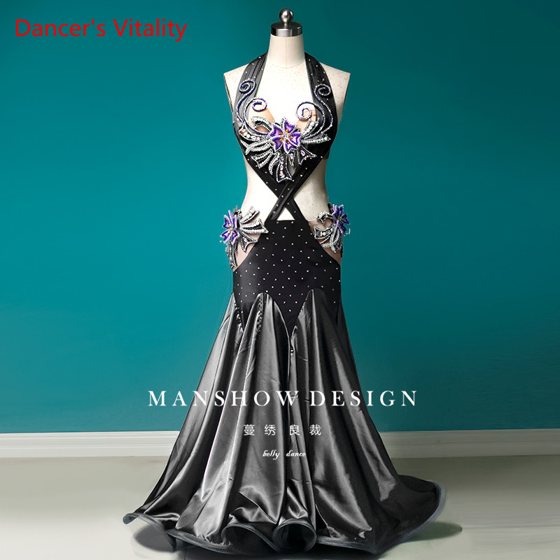 Custom Made Belly Dance Costume Women New Suit High-end Oriental Dance Performance Clothing Conservative Dress Sexy Summer