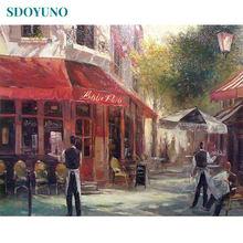 Sdoyuno 60x75 см Акриловая Краска по номерам для взрослых пейзаж