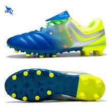 2020 rozmiar 34-45 Unisex długie Spike buty do piłki nożnej FG trawnik zewnętrzny AG SG korki Futsal korki trawa ziemi trampki sportowe