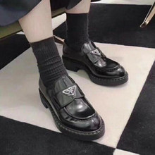 Mocassins à semelle épaisse pour femmes, chaussures à plateforme, en cuir, de haute qualité, nouvelle collection 2021