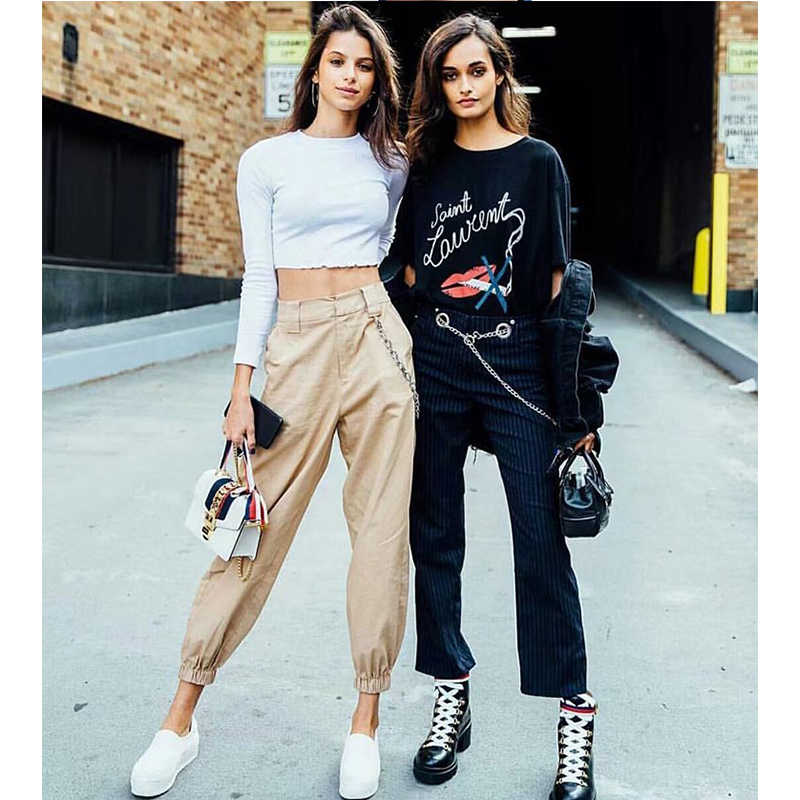 KENNTRICE Women Cargo Pants High Waist Streetwear Casual Loose Trousers Hip Hop Women Joggers Pants