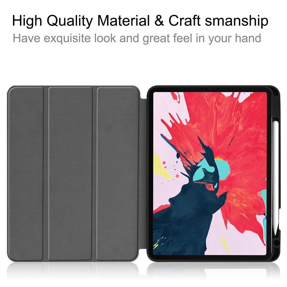 MTT Soft TPU Case For iPad Pro 11 inch 2nd Gen 2020 Tablet PU Leather Flip