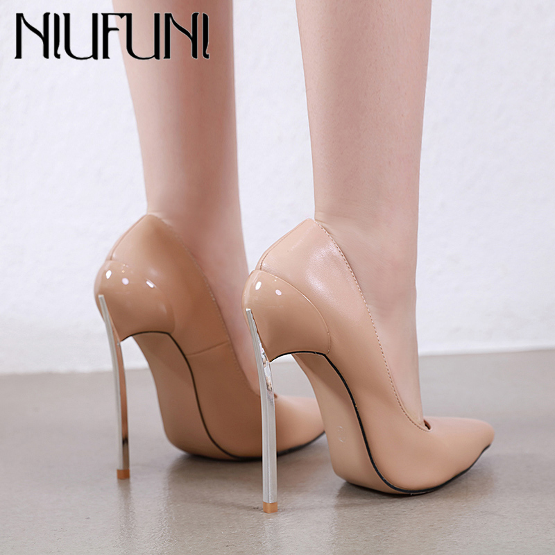 NIUFUNI Sexy High Heels Women Pumps Pointed Toe Party Dress Shoes Woman PU Leather Lady Stilettos Spring Autumn Shoes Size 35-42