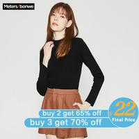 Me&city Wool Knitted Sweater Women Pullovers Autumn Winter Basic Women Slim fit warm Sweaters