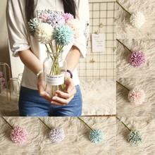 Sztuczne kwiaty prawdziwy dotyk dmuchawiec sztuczne rośliny plastikowe kwiaty do dekoracji wnętrz Multicolor wesele sztuczne kwiaty tanie tanio CN (pochodzenie) hone Daisy Kwiat Głowy CHRISTMAS Włókniny tkaniny