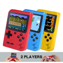 400 Game Mini Portable Retro Konsol Video Game Genggam Muka Pemain Anak 8 Bit Built-In Game Boy 3.0 Inch layar LCD Warna(China)
