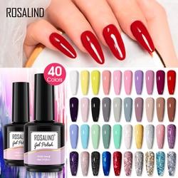 ROSALIND 15ML Gel Nail Polish Glitter Color Nail Gel For Nails Art Manicure Need UV LED Lamp Sock Off Design Gel Varnishes