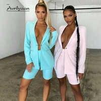 Avrilyaan-Conjunto de dos piezas oficial para mujer, traje de botón de cadena de Metal, Top corto, conjunto de 2 piezas Sexy para mujer, color rosa