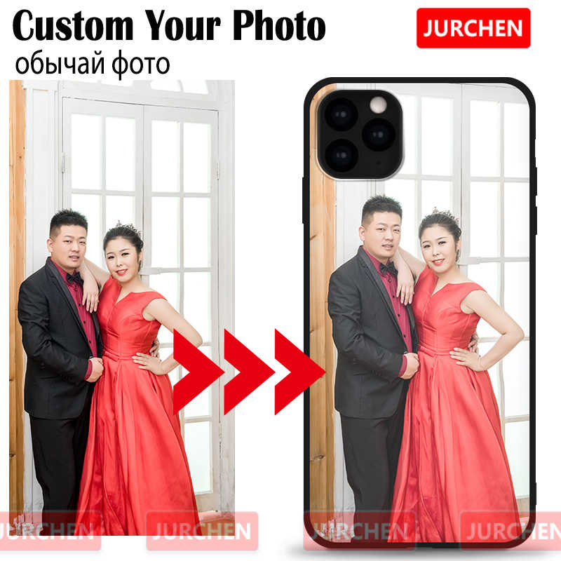 JURCHEN Custom Phone Case For iPhone 11 Pro Max 10 8 7 6S Plus Case Customized Back For iPhone X XR XS Max Cover DIY Name Photo