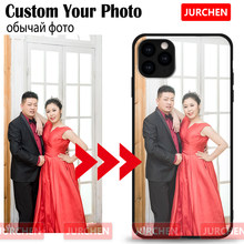 JURCHEN Custom Phone Case For iPhone 11 Pro Max 10 8 7 6S Plus Case Soft Silicone Thin TPU Matte Customized Back Case For iPhone X XR XS Max 7Plus 8Plus Cover DIY Name Lucida Photo(China)