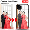 JURCHEN Custom Phone Case For iPhone 12 Mini 11 Pro Max SE 2020 8 7 6 5 Plus Case Customized For iPhone X XR XS Max Cover Photo