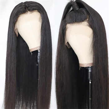 Straight Lace Front Wig 13x6 HD Lace Frontal Human Hair Wigs for Black Women 360 Lace Frontal Wig 13X4 Peruvian Remy PrePlucked