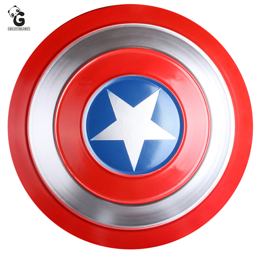 Metal Iron Shield for Steven Rogers Cosplay Prop Super Hero Big Metal Shield Pendant Ornaments Halloween Superhero Men Prop