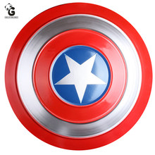 Metal escudo de ferro para steven rogers cosplay prop super herói grande escudo de metal pingente ornamentos halloween super herói homem prop