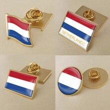 Brasão de armas holanda hollanders mapa bandeira nacional emblema broche emblema lapela pinos
