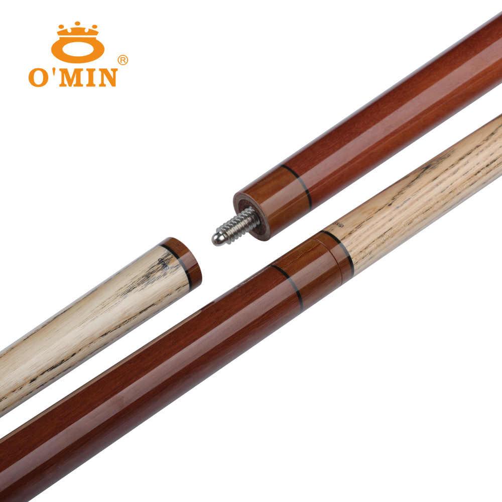 OMin bilard Punch & Jump Cue 13.5mm wskazówka 3 sztuk wysokiej jakości wał Ashwood profesjonalne bilard przerwa Cue nadaje się do czarny 8