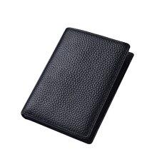 2020 Popular Men Wallet Leather Vertical Wallet Leather Driving License Bag Driving License Card Wallet Male Solid Multifunction