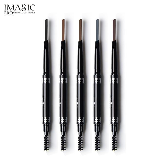 IMAGIC professional waterproof eyebrow pencil with brush double head rotating automatic triangle eyebrow pencil professional thr 3