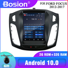 NEUE! Bosion Für Ford Focus 3 Mk 3 2012-2017 Tesla bildschirm Tesla stil Android 10 Auto Radio Multimedia Video player Navigation GPS
