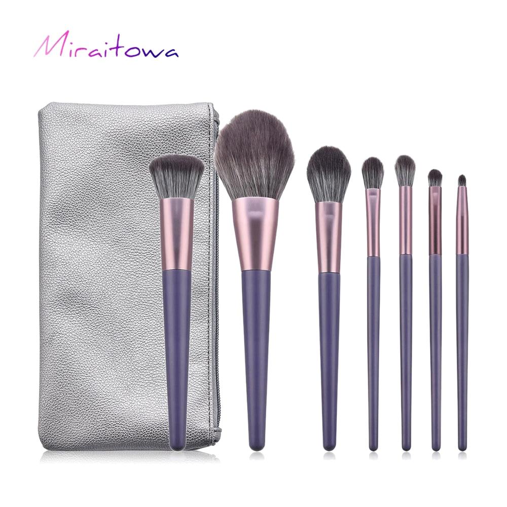 Miraitowa luksusowy zestaw pędzli do makijażu do podkładu Powder Blush Eyeshadow Concealer Lip pędzel do makijażu powiek kosmetyki przybory kosmetyczne
