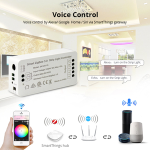 Image 4 - Zigbee 3.0 Smart Strip Light Driver RGB RGBW LED Strip Controller DC12V APP Control Compatible with Smartthings