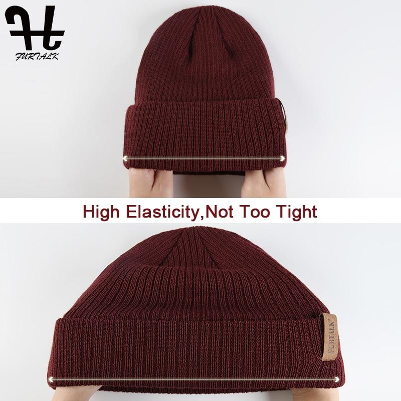 FURTALK Womens Beanie Hat Autumn Women Wool Knit Beanie Hat Cuff Beanie Watch Cap for Girls Spring Skull Hats for Female 2019 2