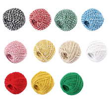 Strap-Rope-Wire Cord String Handicraft Diy-Supplies Cotton-Thread Double-Colors Woven