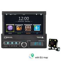"""1 DIN один """" Карта светодиодный дисплей камера заднего вида практичная Bluetooth радио видео USB порт сенсорный экран цифровой автомобильный MP5 плеер HD"""