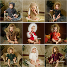 Dvotinst יילוד אביזרי צילום תינוק סרוג לסרוג רך תלבושות בגדי Rompers פוטוגרפיה אביזרי סטודיו אבזרי תמונה